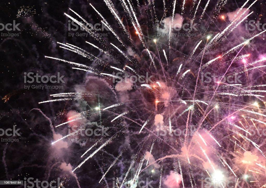 Fireworks Start stock photo