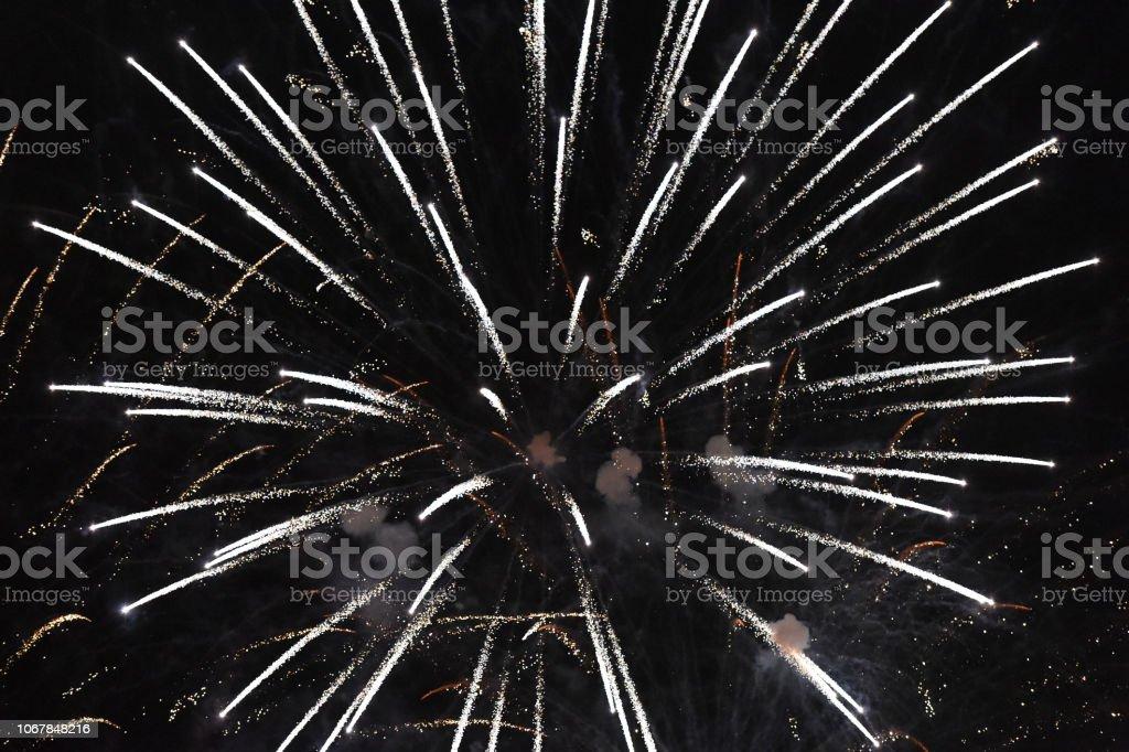 Fireworks Trails stock photo