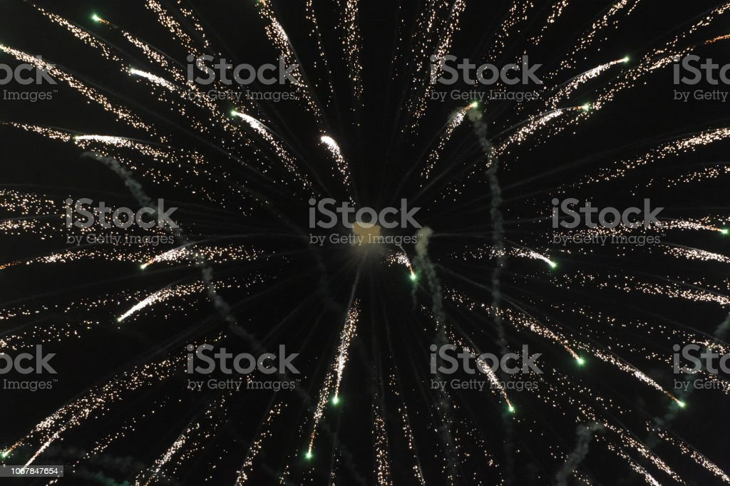 Fireworks Tunnel stock photo