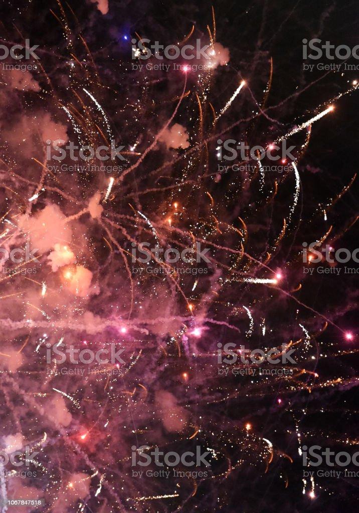 Fireworks Warp stock photo