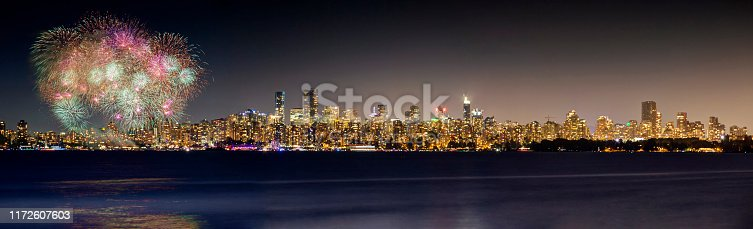 istock fireworks with cityscape in the background 1172607603