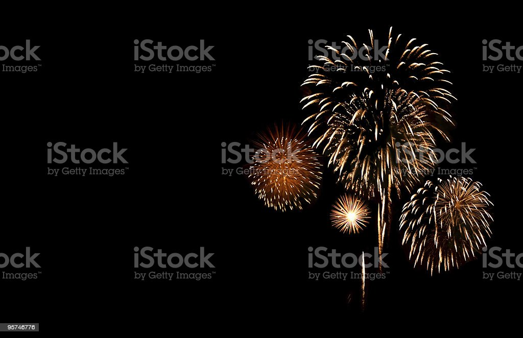 Fireworks with Copy Space stock photo