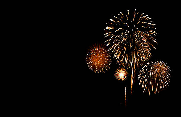 fireworks with copy space - fireworks stock pictures, royalty-free photos & images