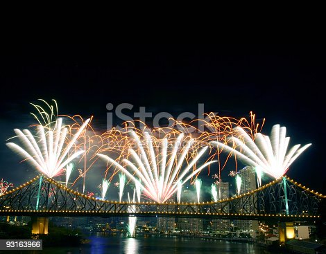 istock Fireworks with Copyspace 93163966