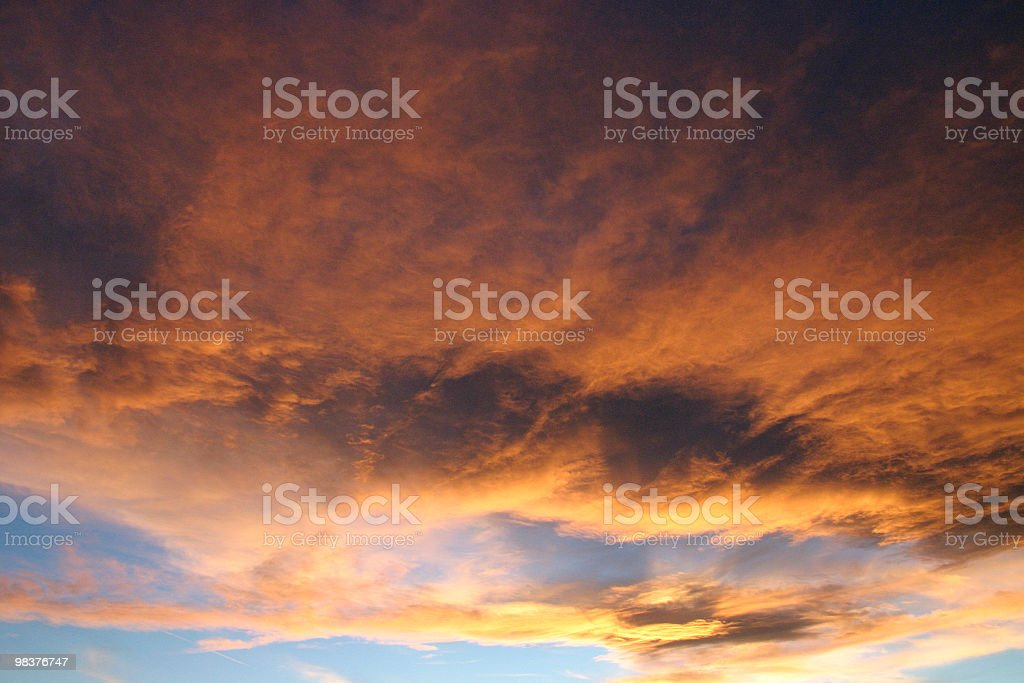 firey clouds royalty-free stock photo