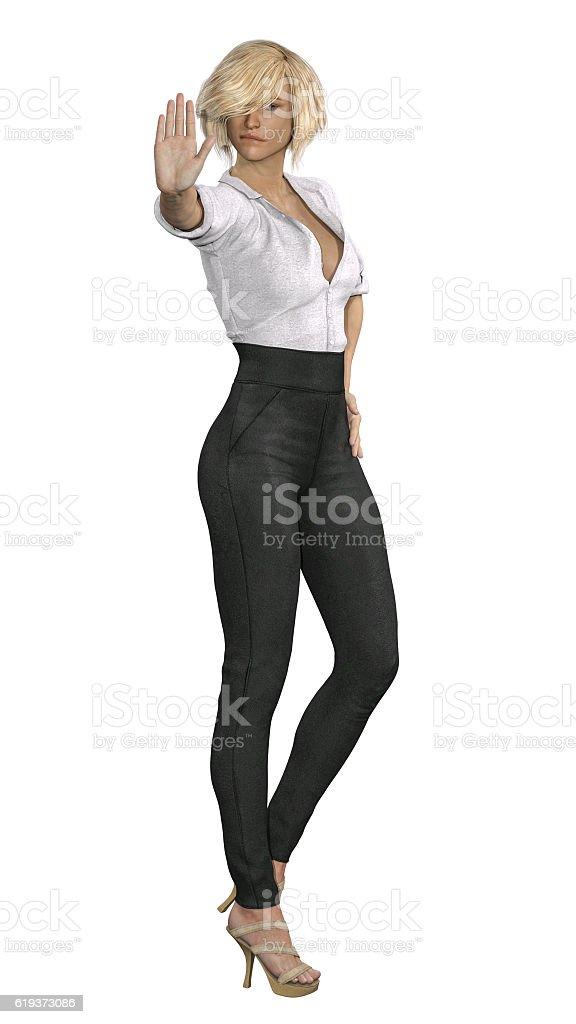 Firm Girl stock photo