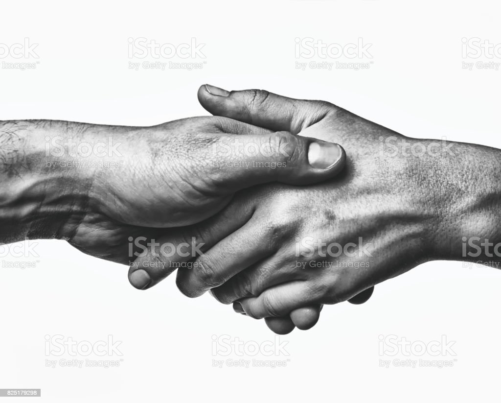 A firm handshake - foto stock