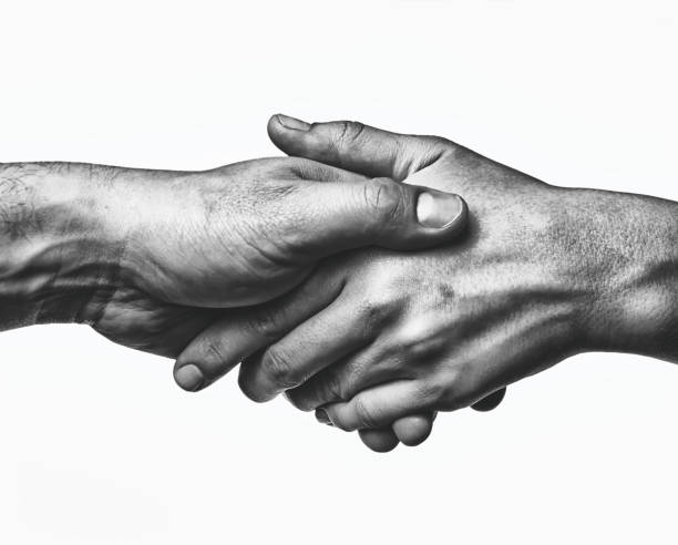 A firm handshake stock photo