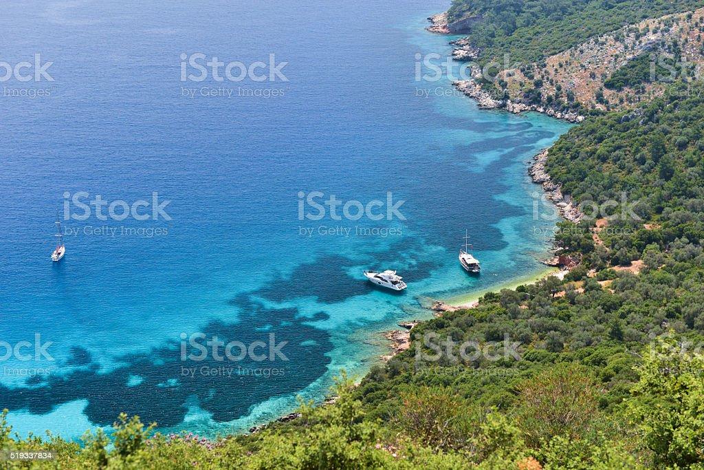 Firnaz bays from Kalkan stock photo