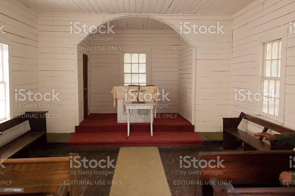 First African Baptist Church, Cumberland Island stock photo