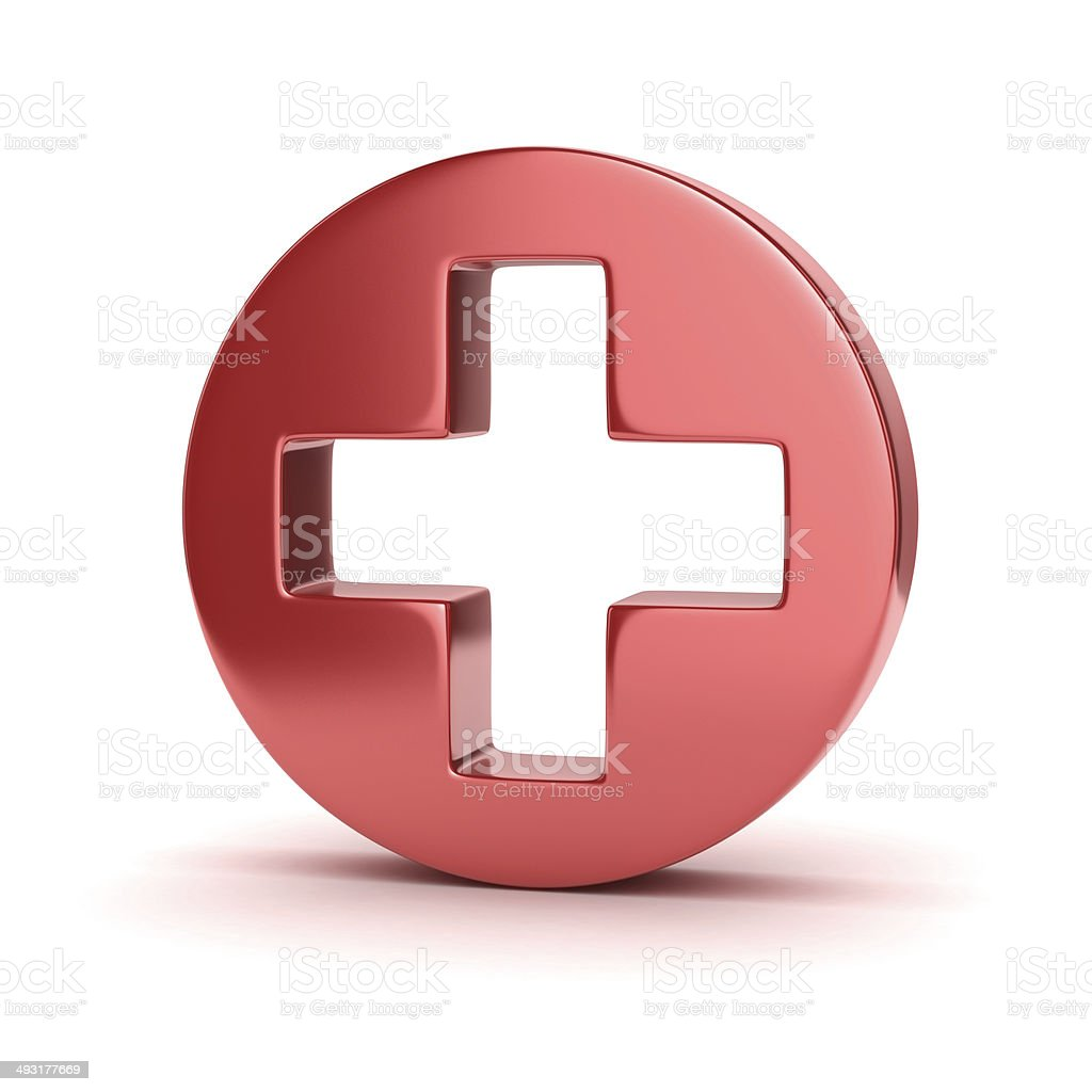 first aid 3d icon stock photo
