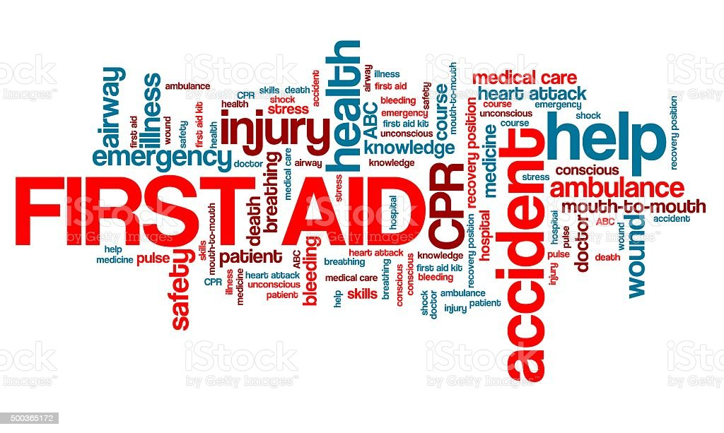 First aid and CPR stock photo