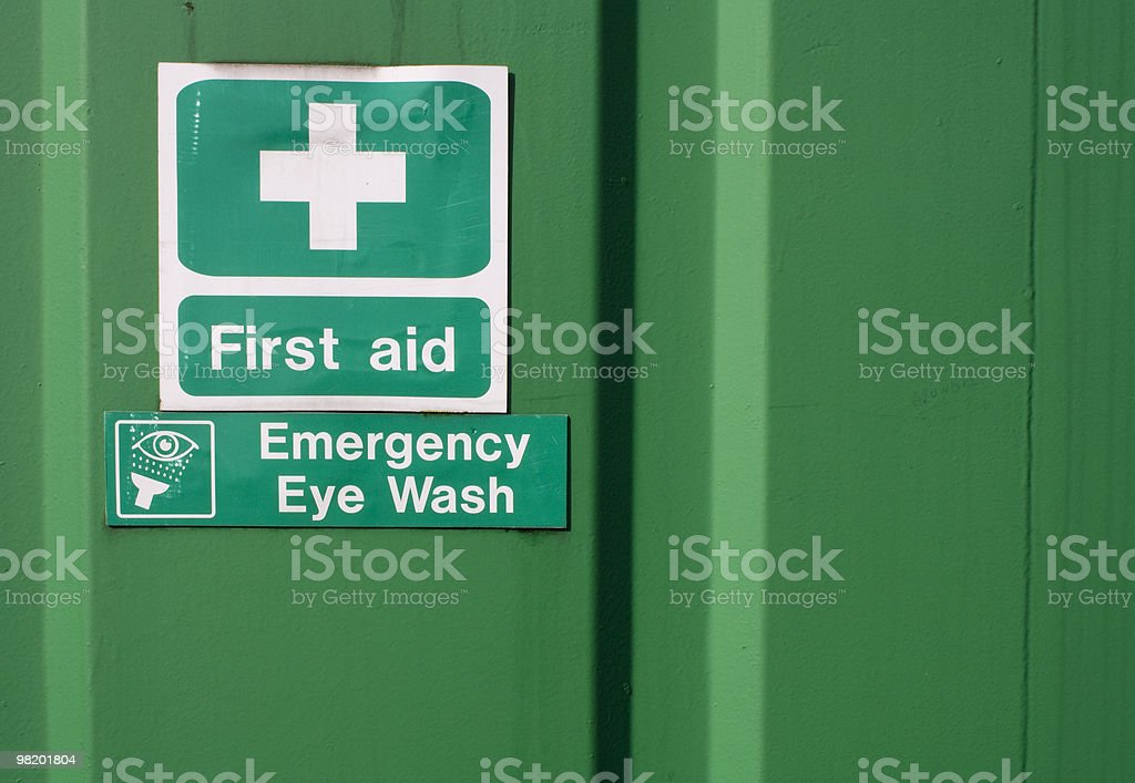 Di primo soccorso ed il trattamento degli occhi indicazioni foto stock royalty-free