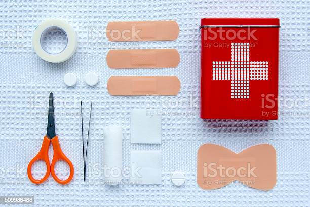First Aid Articles Stock Photo - Download Image Now