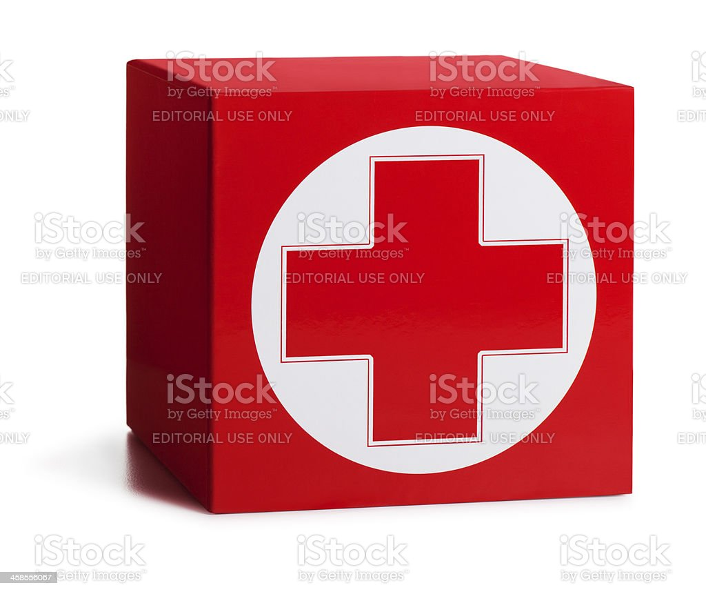 First Aid Box on White stock photo