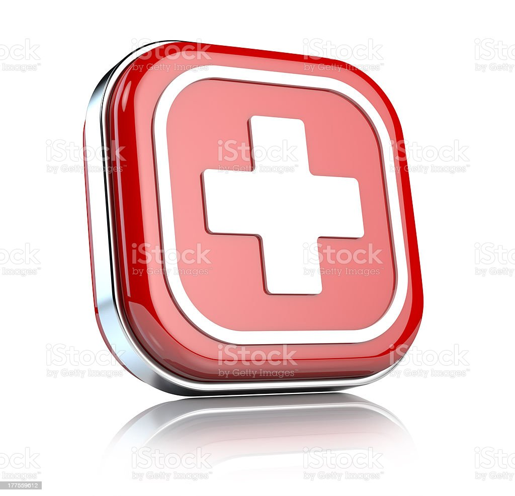 First aid icon stock photo