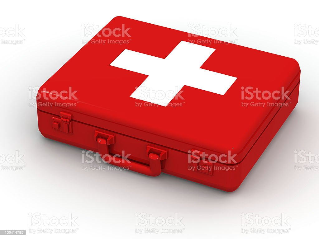 First aid kit. 3d royalty-free stock photo