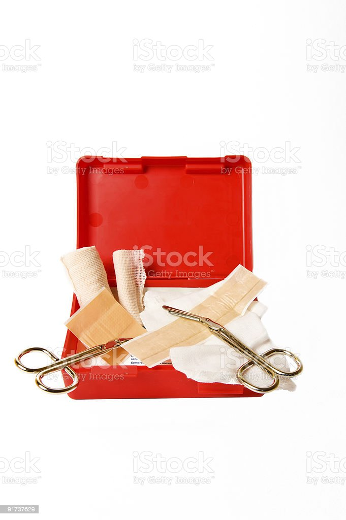 First Aid Kit Isolated on White royalty-free stock photo