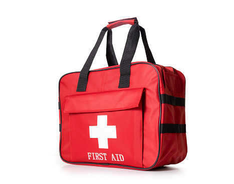 First Aid Kit with clipping path.