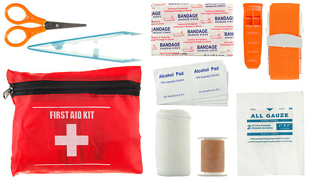 first aid kit (small) - first aid stock photos and pictures