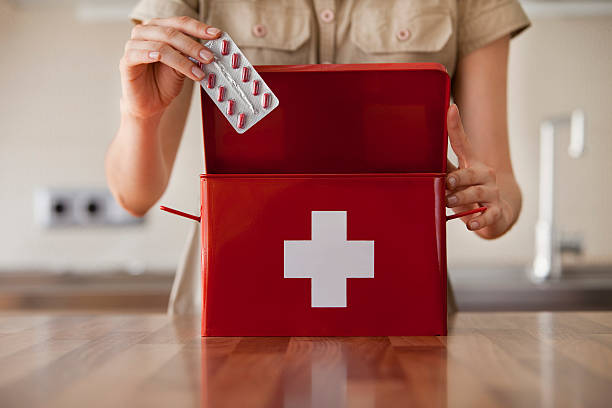 first aid kit - first aid stock photos and pictures