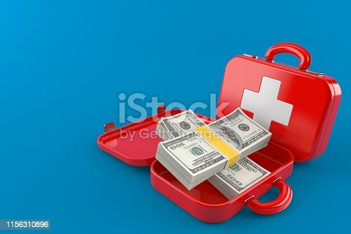 istock First aid kit with money 1156310896