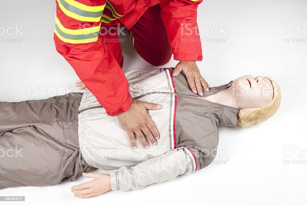 First aid - Look, listen and feel stock photo