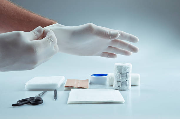 first aid medical supplies - medical supplies stock photos and pictures