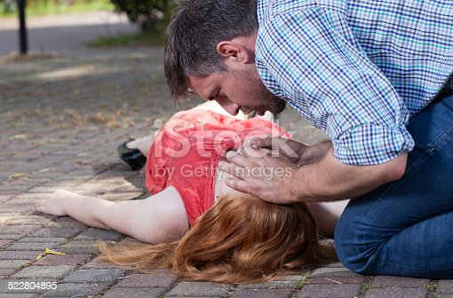 istock First aid on the street 522804895