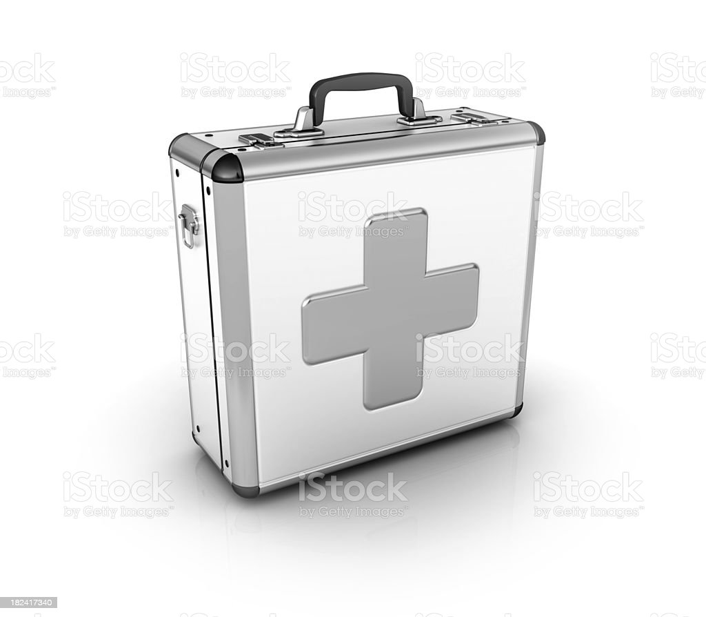 first aid suitcase stock photo