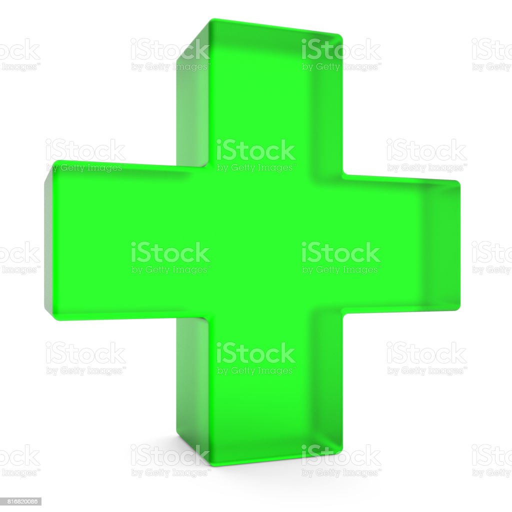 First aid symbol stock photo