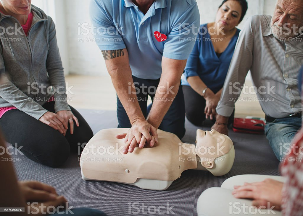 CPR First Aid Training Concept – Foto