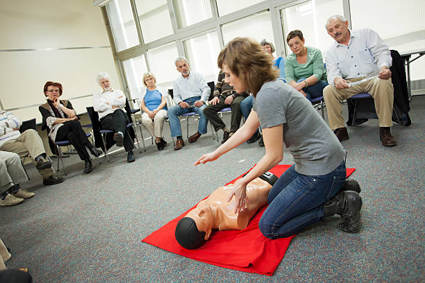 first aid training course - first aid stock photos and pictures