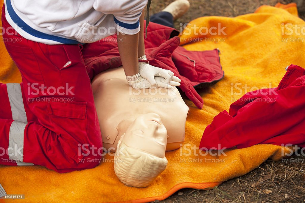First aid training royalty-free stock photo
