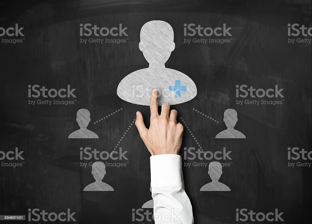First aid user / Blackboard concept (Click for more) stock photo
