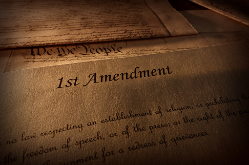 istock First Amendment text 1003130100