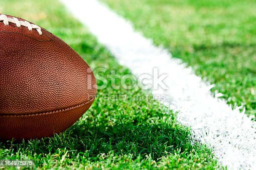 istock First and goal, ball at goal line - American Football 164975375