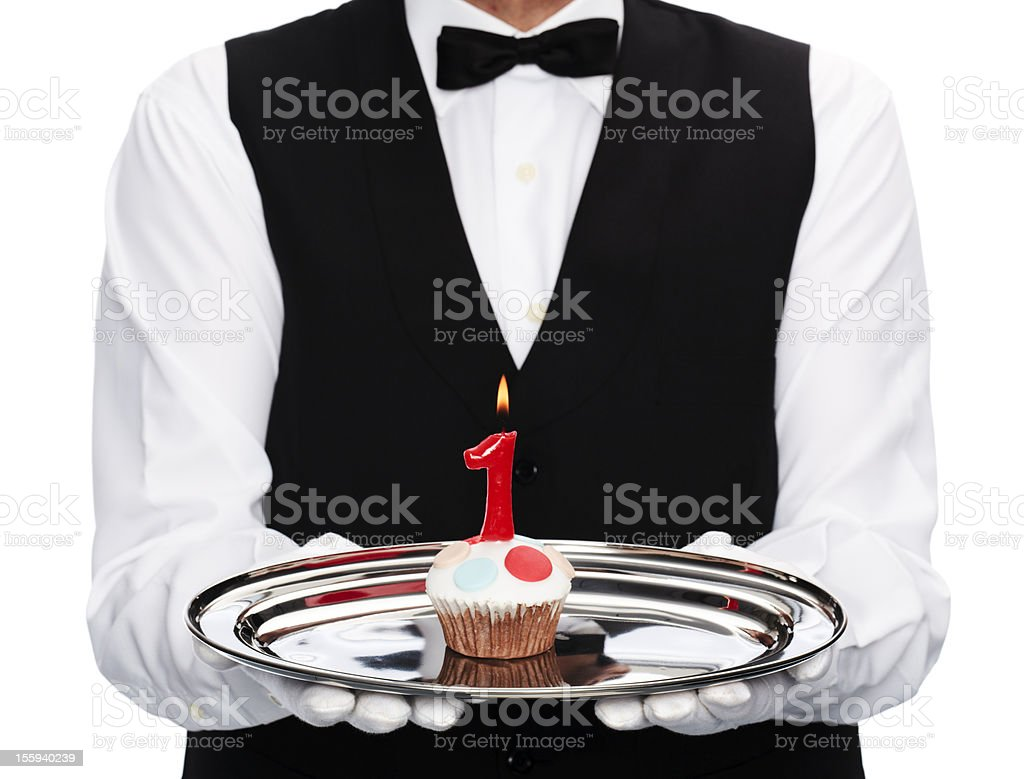 first anniversary royalty-free stock photo