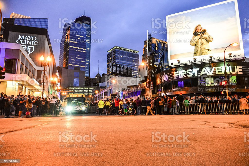 First Avenue And Minneapolis On The Day Prince Died Stock Photo