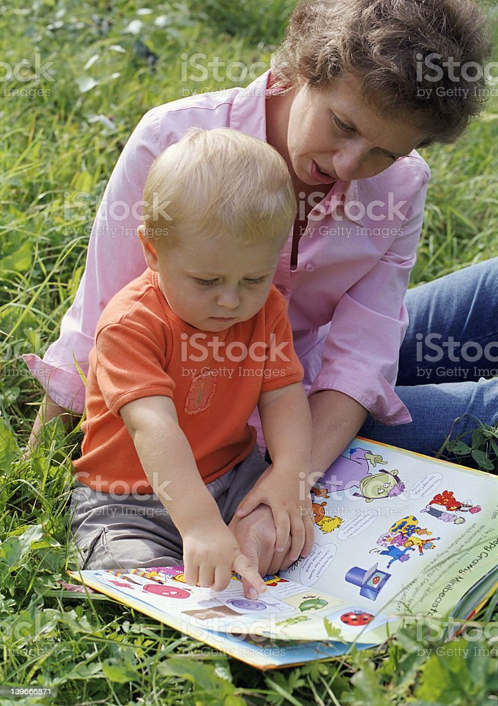 First baby's book royalty-free stock photo
