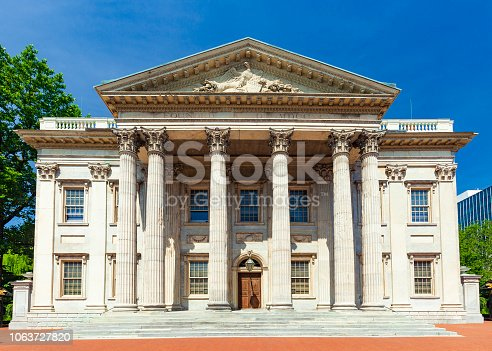 The First Bank of the United States was built in 1795.