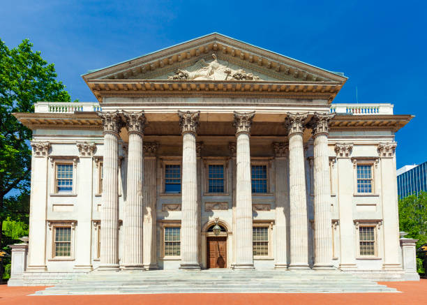 First Bank Of The United States In Philadelphia, Pennsylvania stock photo