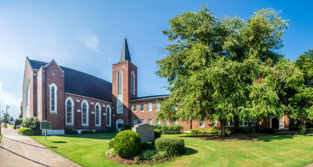 First Baptist Church, Greenville, Mississippi stock photo