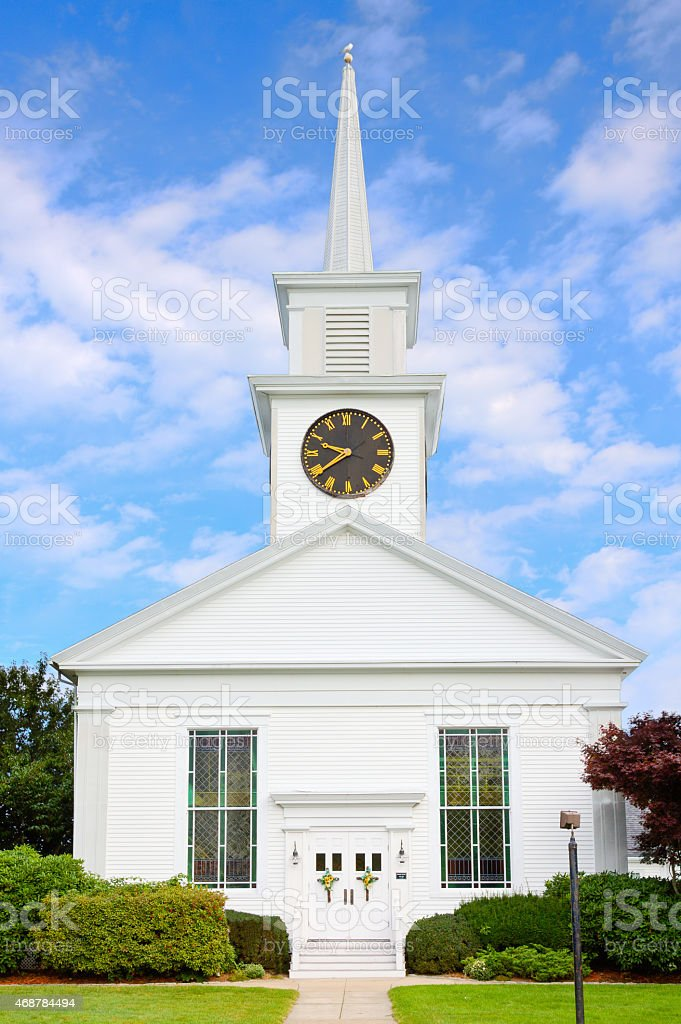 First Baptist Church in New England, Hyannis, Cape Cod, Massachusetts. stock photo
