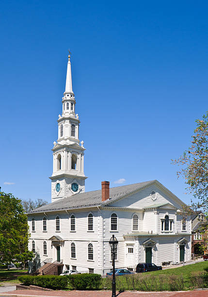 First Baptist Meetinghouse stock photo