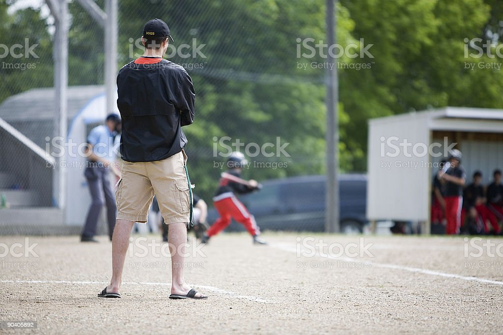 First base coach royalty-free stock photo
