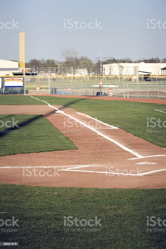 First Base Line stock photo