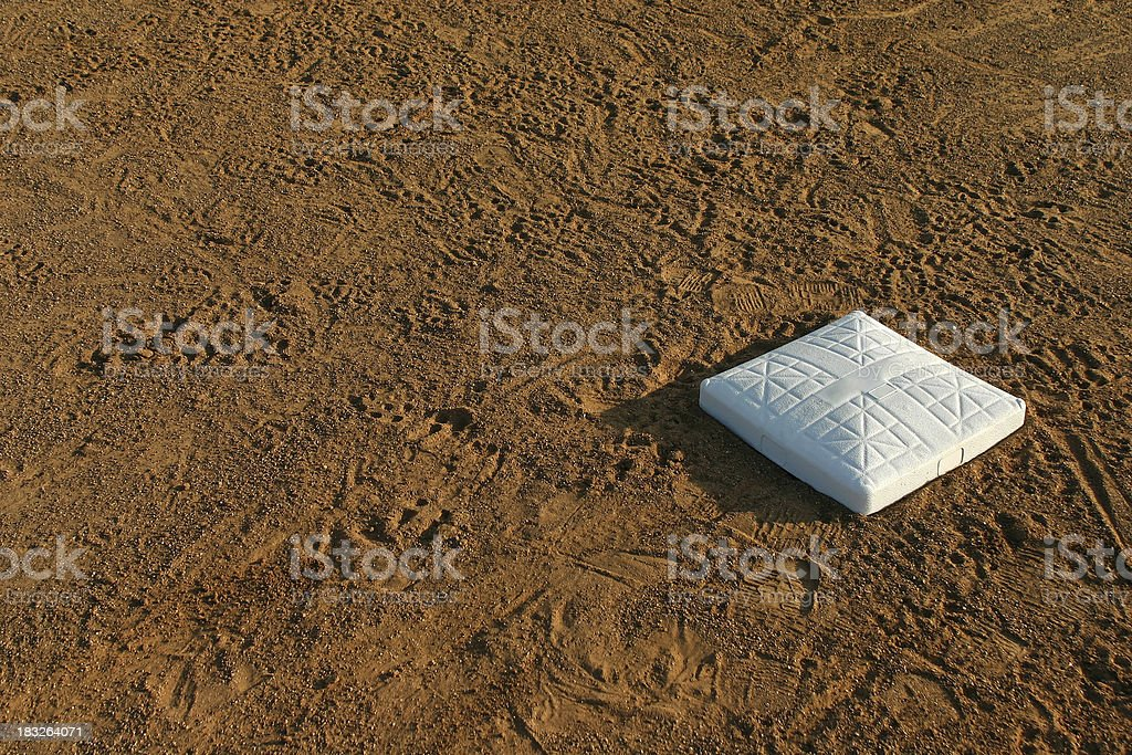 First Base royalty-free stock photo