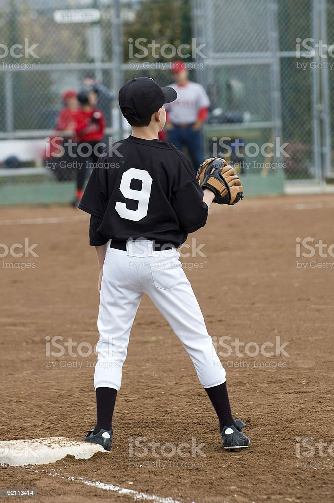 First Baseman royalty-free stock photo