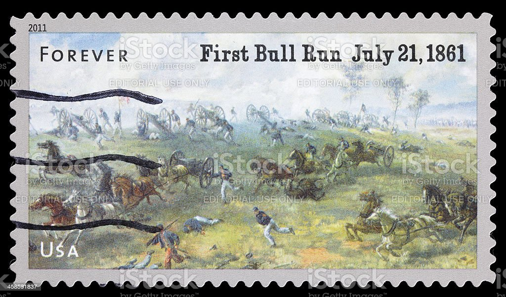 USA first battle of Bull Run postage stamp stock photo